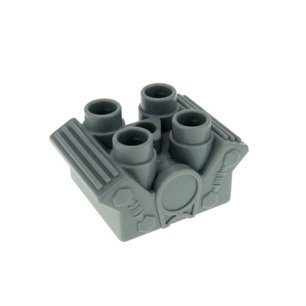 1 x Lego Duplo Fahrzeug Motor 2x2 neu-hell grau Motorblock für Werkstatt Rennwagen Auto Baufahrzeuge 4546220 85347