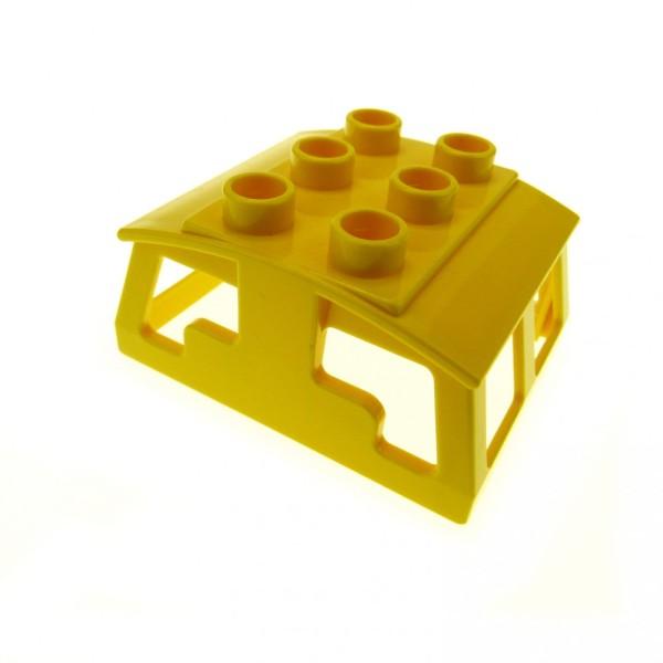 1 x Lego Duplo Eisenbahn Aufsatz gelb Kabinen Dach Lokomotive Lok Zug für E-Lok 2730 2741 2745 6408