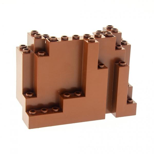 1 x Lego System Fels reddish rot braun Felsen Stein Berg Burg Castle Knights Kingdom II 4225970 6082