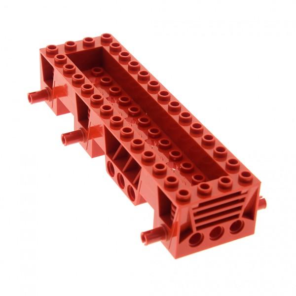 1 x Lego System Fahrgestell 4x14x2 1/3 rot LKW Unterbau Bau Platte 14x4 Noppen Auto Chassis für Set 4609 4605 30642