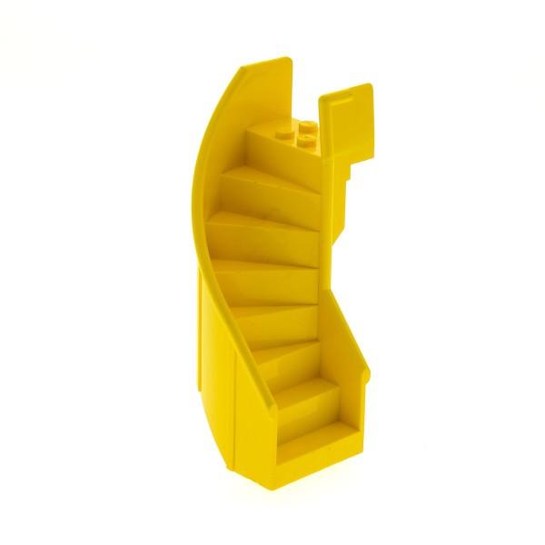 1 x Lego System Wendel Treppe gelb 6x6x9 1/3 gebogen Leiter Fabuland Bus Set 3682 3662 2046