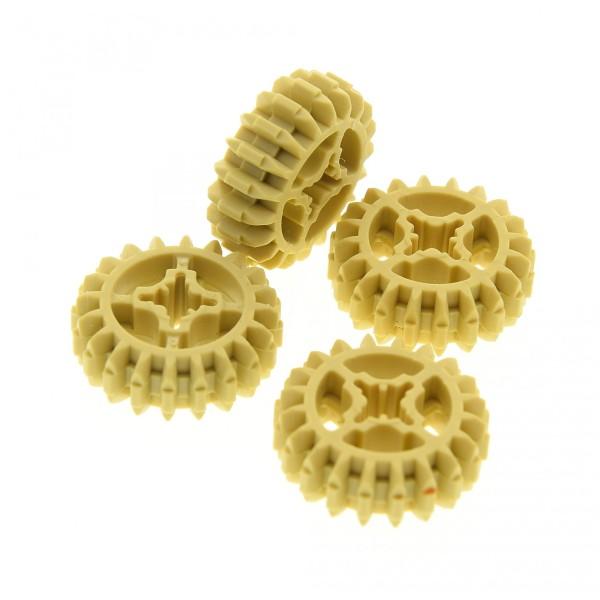 4 x Lego Technic Zahnrad beige tan 20 Zähne Z20 Rad Typ1 Technik 18575 4514555 32269