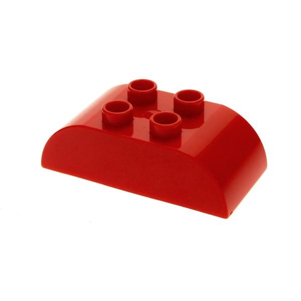 1x Lego Duplo Basic Bau Stein rot 2x4 Dachstein gewölbt rund 8223 98223
