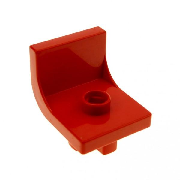 1 x Lego Duplo Stuhl rot 1 Noppe Sitz Stühle Küche Wohnzimmer Sessel Schlafzimmer Puppenhaus Möbel 4839