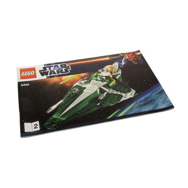 1 x Lego System Bauanleitung A5 für Star Wars Clone Wars Saesee Tiin's Jedi Starfighter 9498 Heft 2