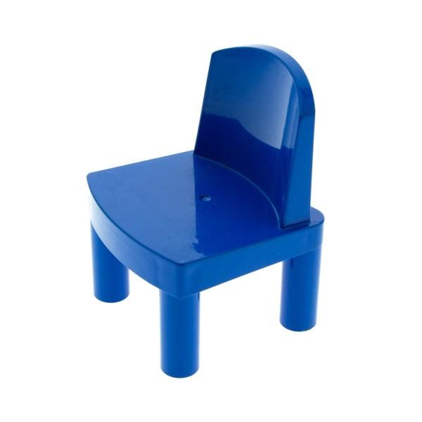 1x Lego Duplo Möbel Stuhl blau groß für Puppe Puppenhaus Set 9234 9215 31313