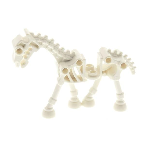 1 x Lego System Tier Skelett Pferd weiss Skeletal Set Castle Fantasy Era 7090 7079 5372 7092 4505107 74463 59228