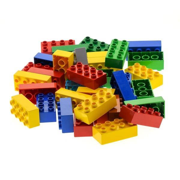 35 x LEGO DUPLO 8er BASIC BAUSTEINE STEINE 2x4 Noppen kg Kiloware bunt gemischt 3011 31459