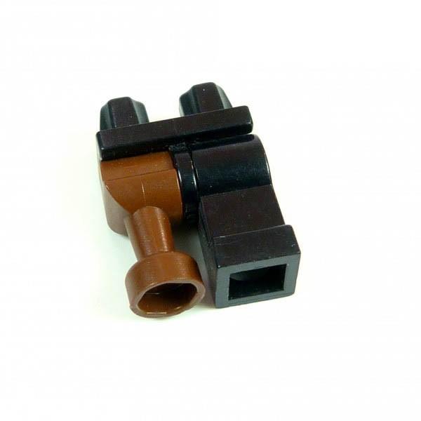 1 x Lego System Figur Holzbein braun schwarz für Pirat Soldat Piraten Holz Beine Castle Ritter Harry Potter 970d01
