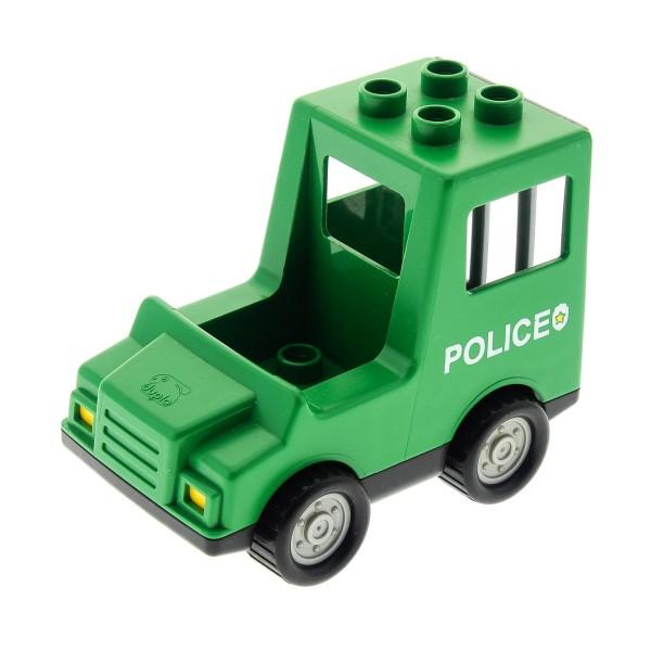 1 x Lego Duplo Auto Van grün schwarz Truck Polizei Police PKW Sträfling Transporter Set 3616 dupvan