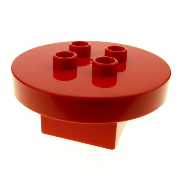 1 x Lego Duplo Möbel Tisch rot 4 x 4 x 1.5 rund Puppenhaus Küche Wohnzimmer Zirkus 31066