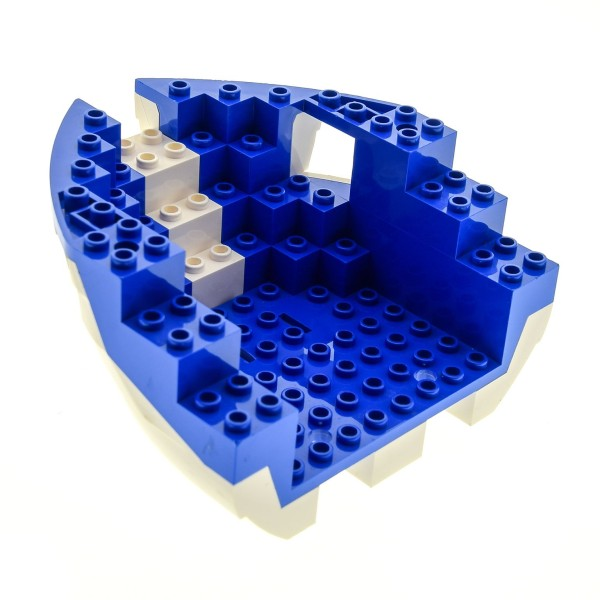 1x Lego Boot Rumpf Bug weiß blau 12x12x5 1/3 Piraten Schiff 6280 6051c02