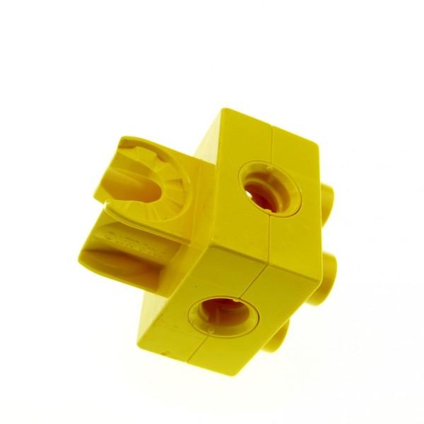 1 x Lego Duplo Toolo Stein gelb 2 x 2 2x2 Arm Halterung Clip Verbinder 74957