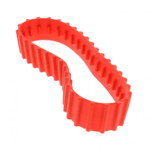 1 x Lego System Gummi Kette rot 36 Zähne Raupe Bagger Kettenantrieb Tread Large Set 70504 70144 70501 6021542 x1681