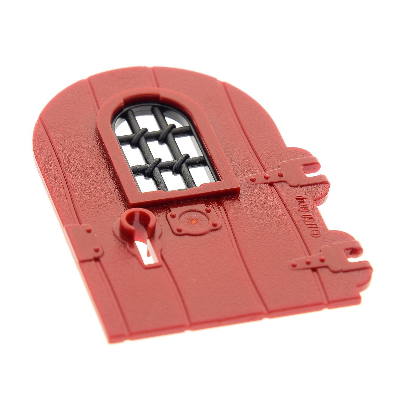 1 x Lego System Freestyle Haustür Tür Blatt creme weiss 1x6x6 Fenster Gitter 600