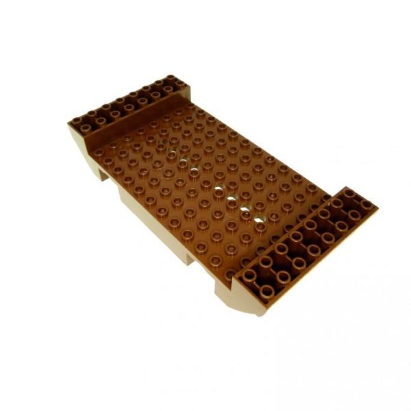 1 x Lego System Boot Rumpf braun 8x16x2 1/3 mit 8 Löchern Piraten Wikinger Schiff Mittelstück 10040 6286 6285 2560