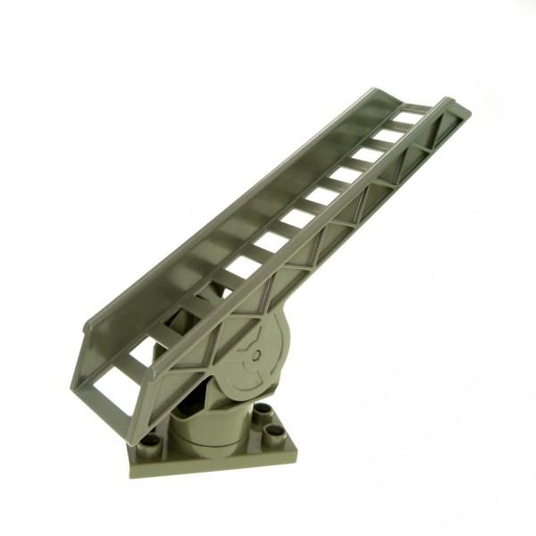 1 x Lego Duplo Leiter alt-dunkel grau Drehleiter Feuerwehr Treppe Auto Kran Dreh Platte 4567c02 2033c01