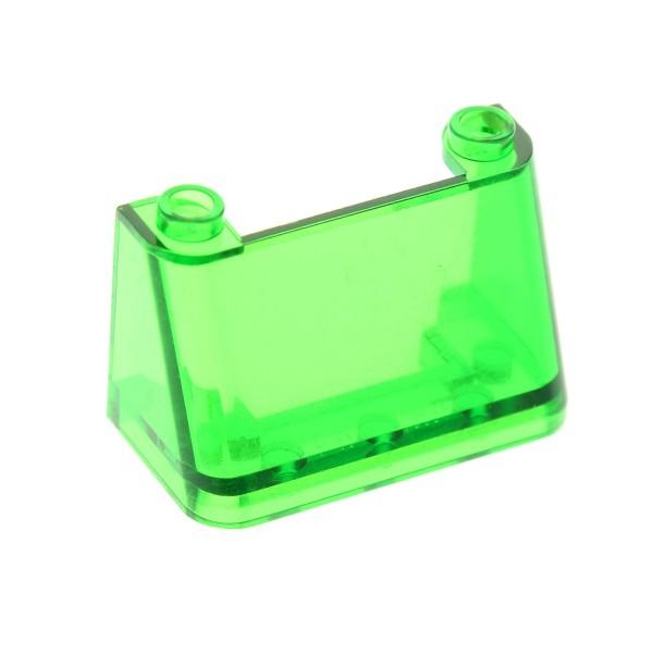 1 x Lego System Windschutzscheibe transparent grün 2x4x2 windscreen Star Wars Kanzel Cockpit Kuppel Fenster 6328 6600 3823