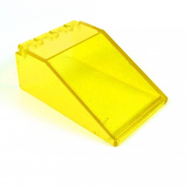 1 x Lego System Cockpit transparent gelb 6 x 4 x 2 Windschutzscheibe Raumschiff Kanzel Kuppel Fenster Windscreen 6985 6954 4474