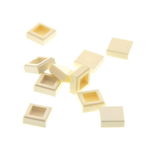 10 x Lego System Fliese 1x1 weiß mit Rille Platte Star Wars Set 10182 10129 10225 10256 307001 30039 35403 3070