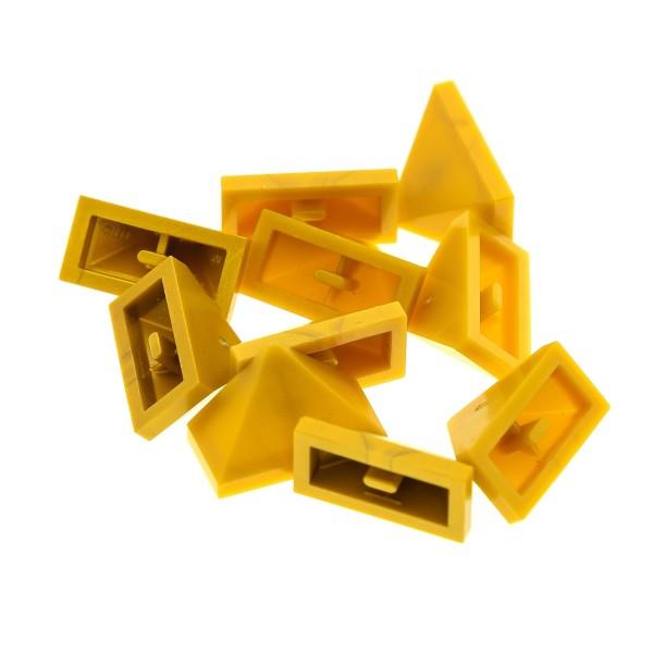 10 x Lego System Dachstein perl gold 45° 2x1 Dachziegel schräg Stein Firststein Set 7094 7627 7327 7036 4295174 3048c