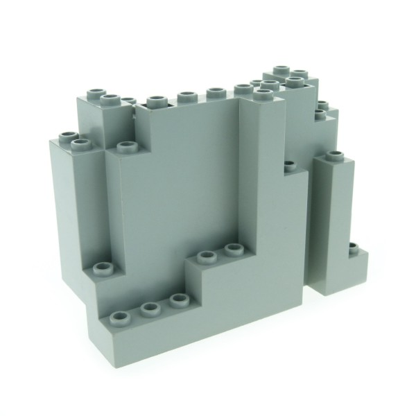 1 x Lego System Fels alt-hell grau gross Felsen Stein Berg Klippe Panele für Set Western Cowboys Indians Castle 6082