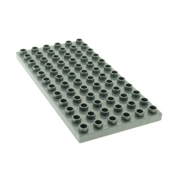 1 x Lego Duplo Bau Basic Platte 6 x 12 perl hell silber grau 12 x 6 Noppen 6x12 Grundplatte für Set Intelli-Train 3325 4196 18921