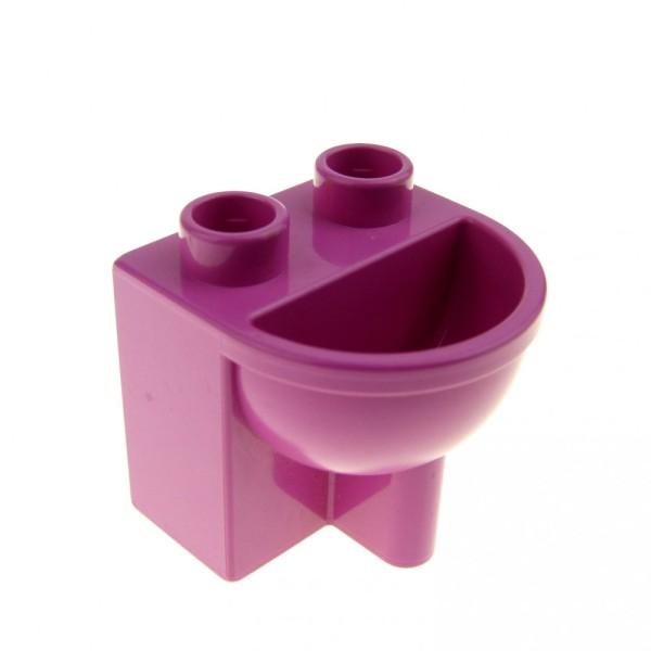 1 x Lego Duplo Möbel Waschbecken rosa dunkel pink Puppenhaus Badezimmer Bad 4892
