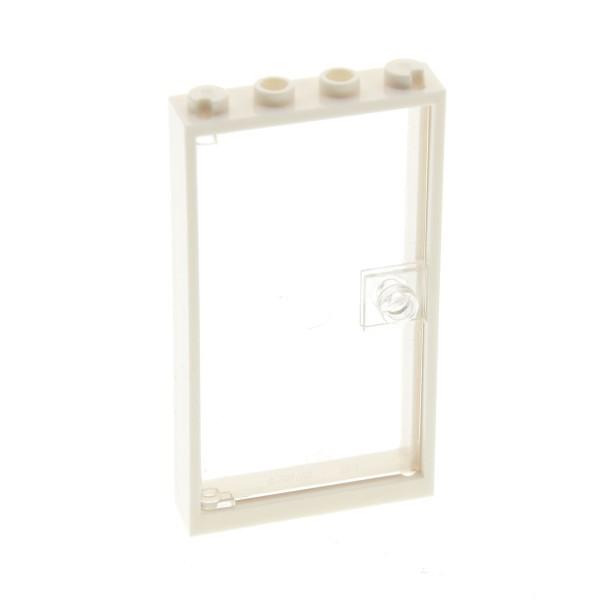1 x Lego System Tür Rahmen weiss transparent weiss 1x4x6 City Haus Scheibe 4521504 4541956 60616 60596