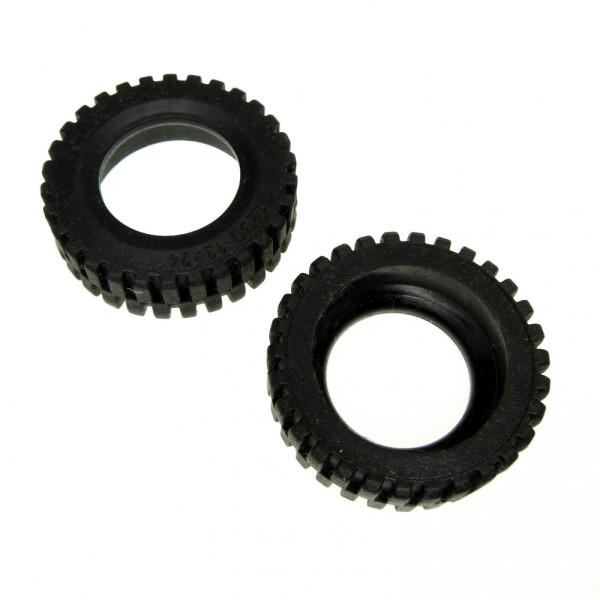 2 x Lego Technic Rad Reifen solo schwarz 13x24 Technik 5541 7249 269626 2696