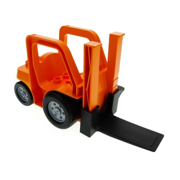 1 x Lego Duplo Gabelstapler orange schwarz Baufahrzeug Baustelle Auto Set 4685 4534373 42404c02