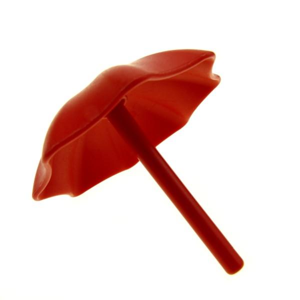 1 x Lego Duplo Schirm rot Garten Sonnen Regenschirm Puppenhaus Möbel Zubehör Set 9189 9129 2164