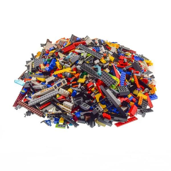 4 Kg Lego System Steine ca. 2800 Teile Kiloware bunt gemischt z.B. Räder Platten Fenster etc.