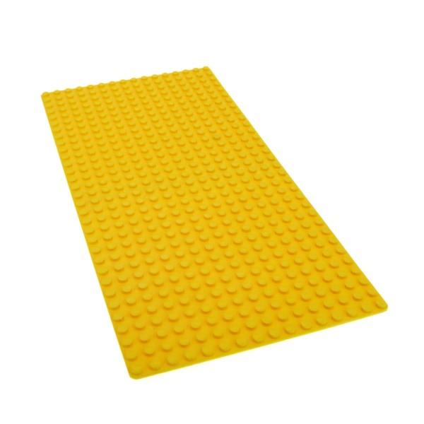 1 x Lego System Bau Basic Grund Platte 16 x 32 gelb flach 32 x 16 Noppen 16x32 Baseplate für 2146 385 365 5009 3857 2748