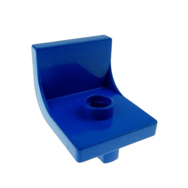 1 x Lego Duplo Möbel Stuhl blau 1 Noppe Küche Wohnzimmer Schlafzimmer Puppenhaus Sitz Chair 4839