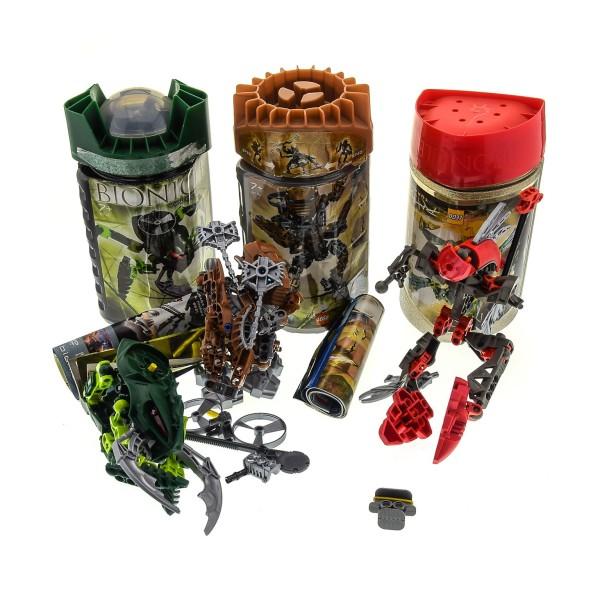 3 x Lego Bionicle Figuren Set Modelle Technic 8592 Turahk 8739 Toa Hordika Onewa 8746 Visorak Keelerak OVP Dosen Boxen incomplete unvollständig