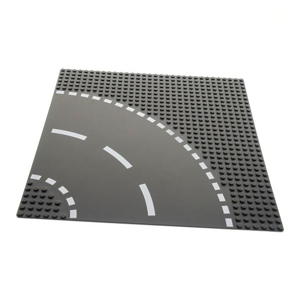 1 x Lego System Bau Platte 6N Kurve 32x32 neu-dunkel grau 32 x 32 Noppen Strasse viertel Kreis 4277476 44342px2