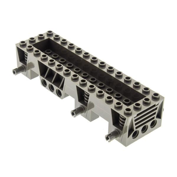 1x Lego Fahrgestell 4x14x2 1/3 alt-dunkel grau LKW Unterbau Chassis 30642