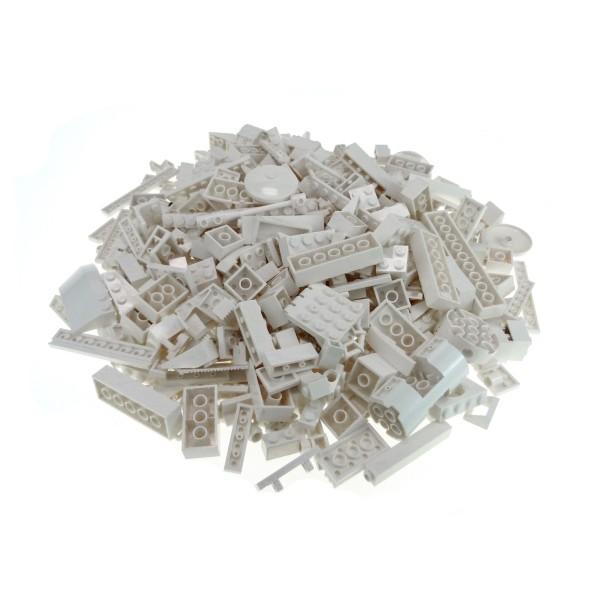 0,5 kg Lego System Basic Steine Sondersteine sortiert nach Farbe weiss Kiloware Form der Steine zufällig gemischt 500 g Sortierung