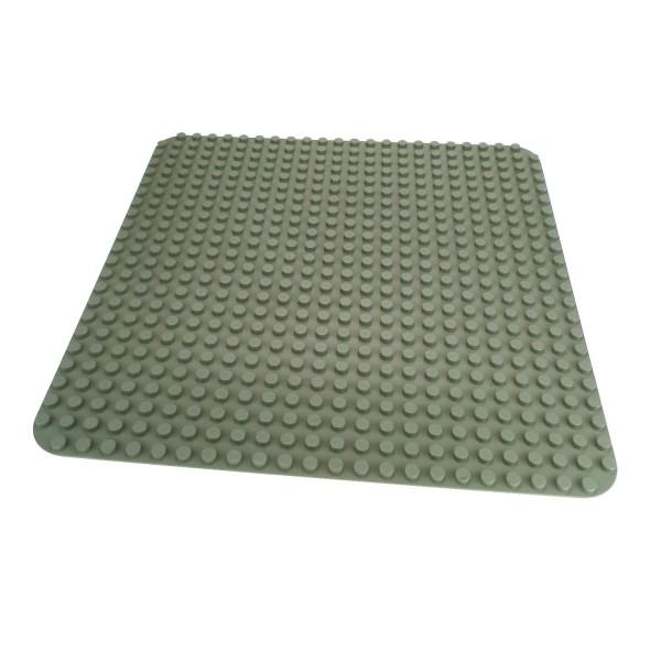 1 x Lego Duplo Bau Basic Platte alt-hell grau 38 x 38 cm 24 x 24 Noppen groß 353 4268 34278
