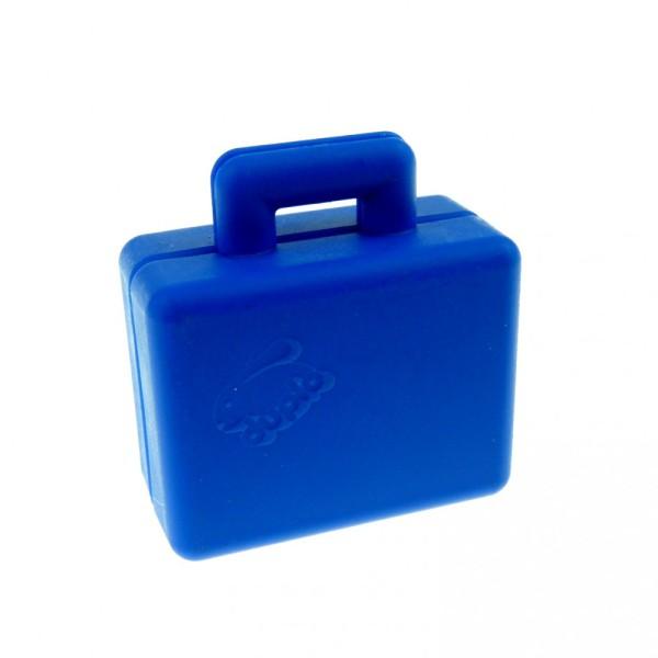 1 x Lego Duplo Koffer blau mit Lego Hasen Logo Aufdruck Figur Zubehör Puppenhaus Möbel Reise Tasche Suitcase 5636 6427