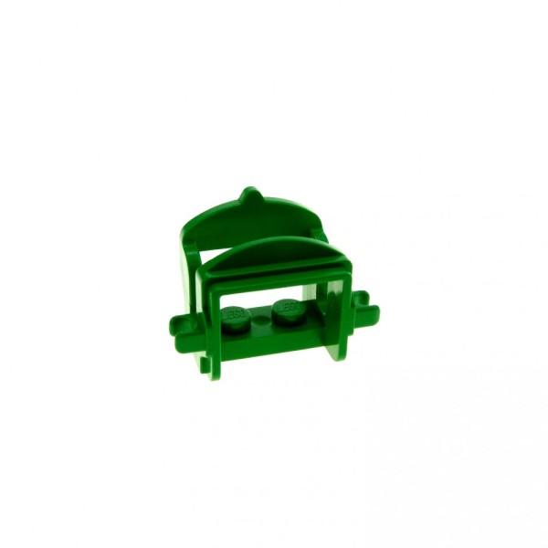 1 x Lego System Tier Pferd Sattel grün mit 2 Clips Pferdesattel Indianer Western Reiter Hof Castle Ritter 6763 4491b