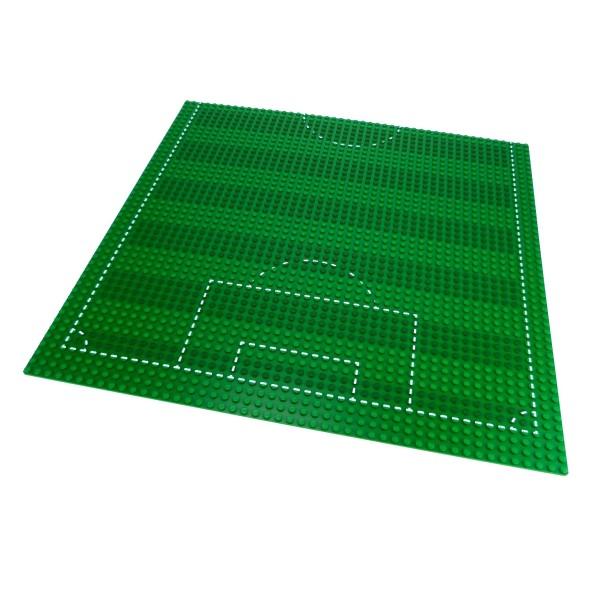 1 x Lego System Fußball Bau Platte grün mit Markierung 48x48 Noppen 48 x 48 Soccer Fußballfeld für 3302 4186p01