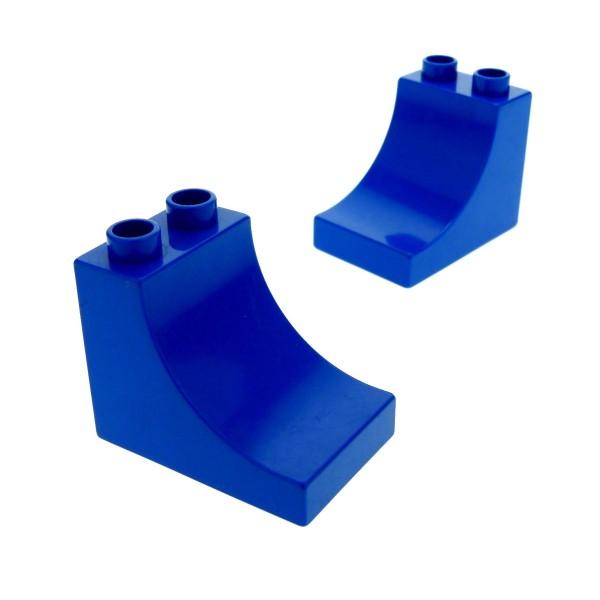 2 x Lego Duplo Dach Stein blau 2x3x2 Kurve für Set 10515 10577 2253 9541 5544 2301