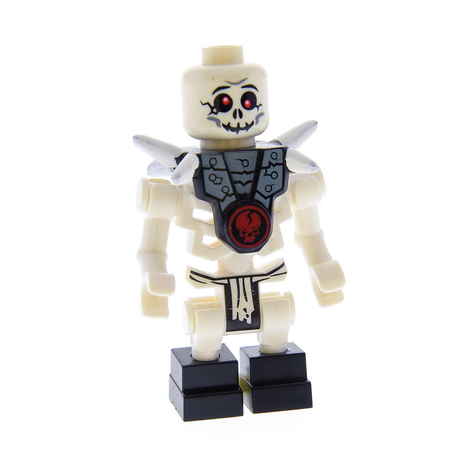 Lego 4 x Skelett Fuß Bein 93062c01 schwarz weiß Ninjago Krazi Bonezai Chopov