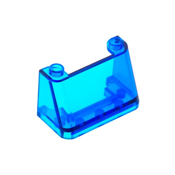 1 x Lego System Windschutzscheibe transparent dunkel blau 2x4x2 windscreen Kanzel Cockpit Auto Fenster 3823