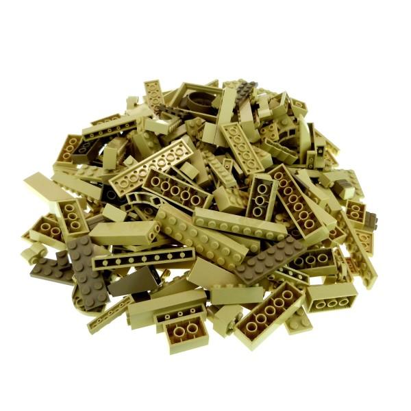 0,5 kg Lego System Basic Steine Sondersteine sortiert nach Farbe hell dunkel beige tan Kiloware Form der Steine zufällig gemischt 500 g Sortierung