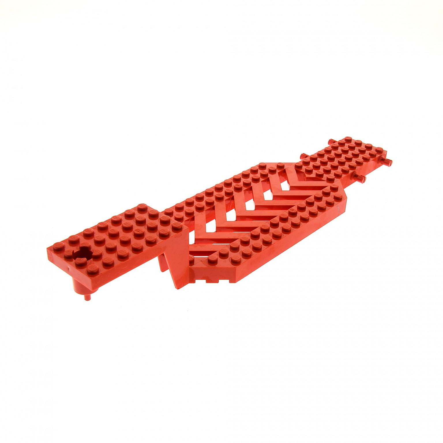 1 x Lego System LKW Auflieger rot 8x30x3 1/3 Chassis Unterbau Fahrgestell  Trailer Anhänger Tieflader