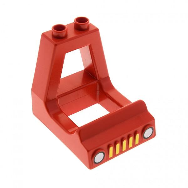 1 x Lego Duplo Führerhaus rot LKW Auto Aufsatz Kabine Kanzel Wagen Fahrzeug für Set Feuerwehr 2637 2028