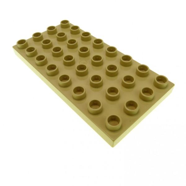 1 x Lego Duplo Bau Platte 4 x 8 hell beige tan 8 x 4 Noppen 4x8 für Set 3772 3771 5608 6156 4255196 10199 4672